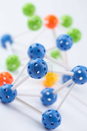 colorful decorative molecular structure on light background