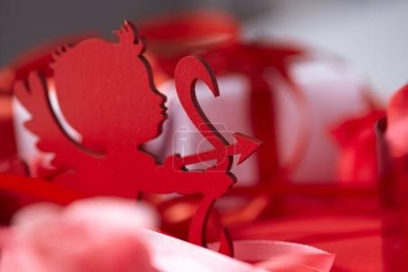 Photo for Beautiful red decorations for Valentines day - Royalty Free Image
