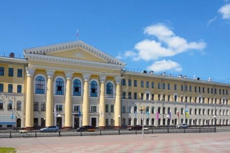 Tomsk, a historical building on Lenin Avenue