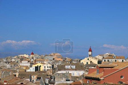 Corfu town Greece summer season