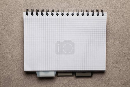 Office or school notebook on table