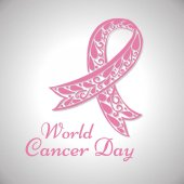 World cancer day background bow Vector illustration