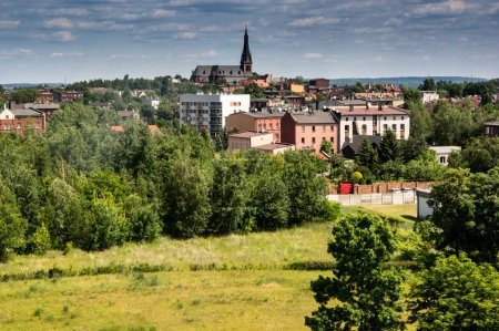 Chorzow - a big industrial city at silesia voivods...