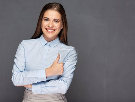 Classic business portrait of smiling woman .