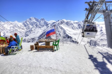 Elbrus. Little cafe at first level on Aerial lift