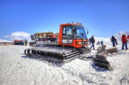 Elbrus. Snow grooming slope of mountain