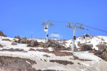 Elbrus. Aerial lift on the first level
