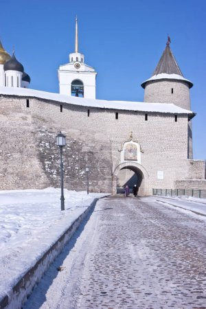 The ancient Kremlin in the city of Pskov
