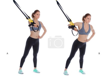 TRX chest press with single arm