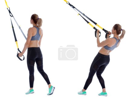 TRX triceps kick back