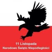 eagle and polish flag in background Concept of Polish independence