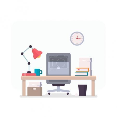 Illustration pour Illustration de bureau confortable. Illustration vectorielle - image libre de droit