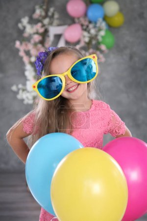 girl on birthday party