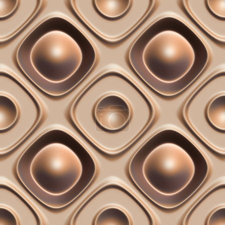 Photo for 3d seamless tile decorative background pattern. - Royalty Free Image