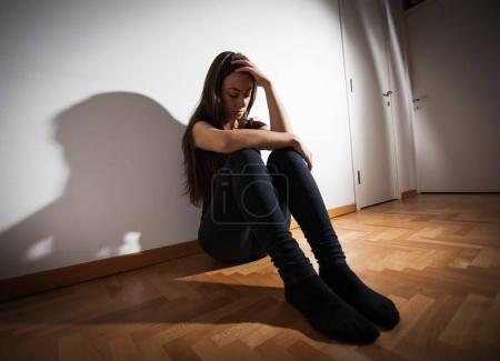 Depressed young woman