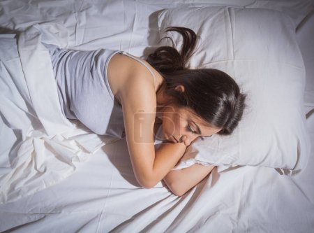 insomnia sleepless depressed woman