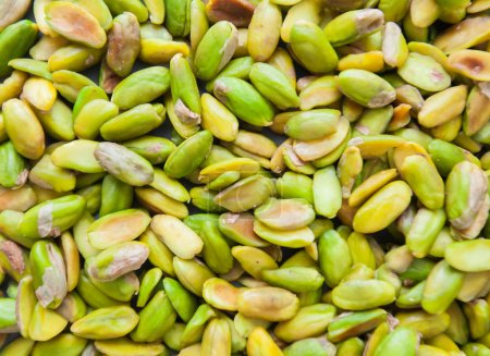 Photo for Raw pistachio healthy Snack, organic nuts no shell, naturally good source of fiber, space for your text - Royalty Free Image