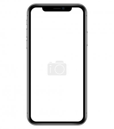 Smartphone mockup illustration. Phone vector