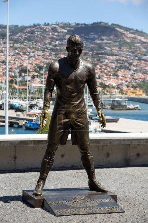 The staue Christiano Ronaldo before