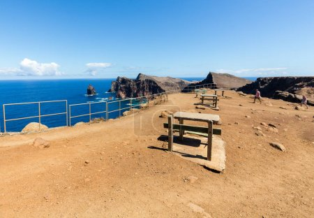 Beautiful landscape at the Ponta de Sao Lourenco, the eastern part of Madeira, Portugal