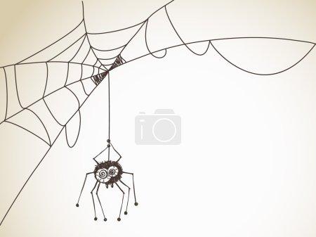 Halloween Sketch with Spider