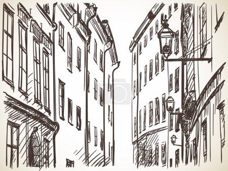 Stockholm street sketch