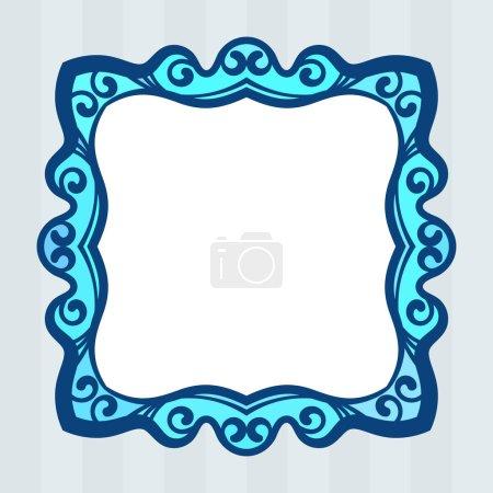 Illustration for Square frame Isolated design element, vector illustration - Royalty Free Image