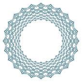 Round frame Circular ornament design element stylized lotus petals Vector illustration