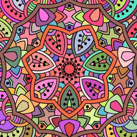 Illustration for Ethnic ornamental pattern, Vector illustration - Royalty Free Image