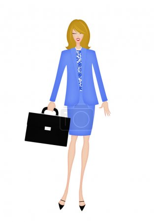 Photo for Pretty young woman with a briefcase dressed professionally - Royalty Free Image