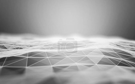 Photo for Abstract grey Low poly pattern - Royalty Free Image