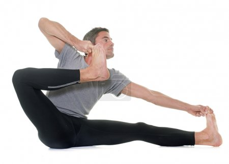 yoga man in studio
