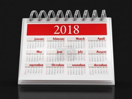 Calendar 2018 (clipping path included)