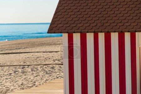 Beach huts on Campello beach