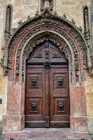 Prague, gate in baroque style