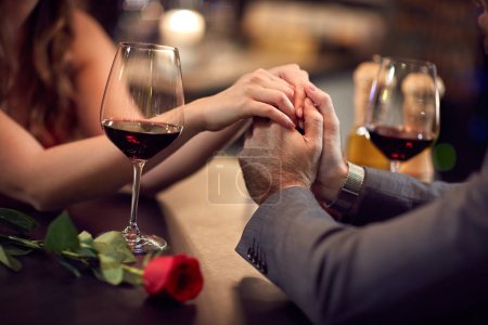 Photo for Romance at night restaurant for Valentine's Day- concept - Royalty Free Image