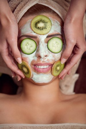 woman facial skin care