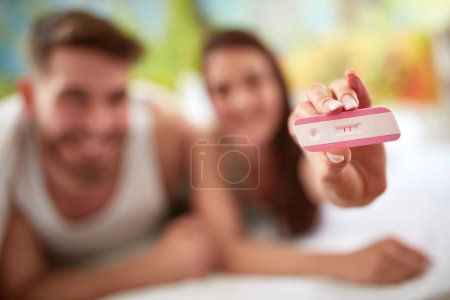 Pregnancy test, close up