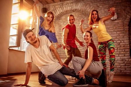 Photo for Hip hop lifestyle concept - Group of dancers urban hip hop team - Royalty Free Image