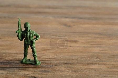 Plastic toy army figurine