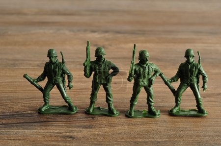 Plastic toy army figurines