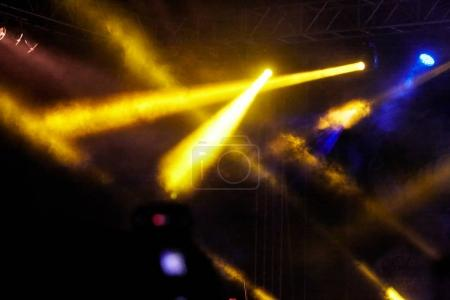 Photo for Stage lights on concert. Concert light show - Royalty Free Image