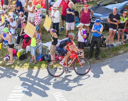 The Cyclist Martin Elmiger  on Col du Glandon - Tour de France 2015
