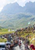 Group of Cyclists on Col du Glandon - Tour de France 2015