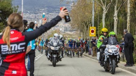 The Peloton in Barcelona - Tour de Catalunya 2016