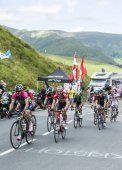 Cyclists on Col de Peyresourde - Tour de France 2014