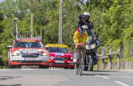 The Cyclist Thomas De Gendt - Criterium du Dauphine 2017