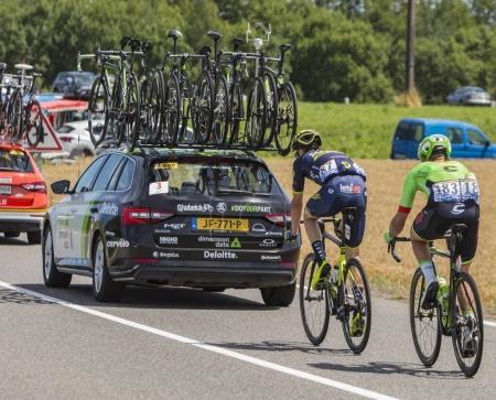 Two Cyclists - Tour de France 2017