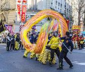 Chinese Dragon Performance - Chinese New Year Parade, Paris 2018