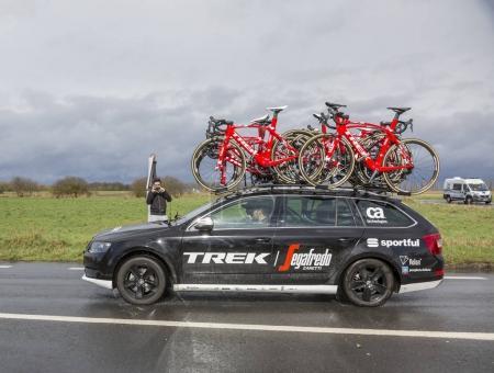 The Car of Trek���Segafredo Team - Paris-Nice 2017